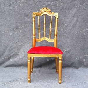 Indians style wedding hall aluminum napoleon chair for rental