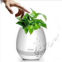 Creative Bluetooth Smart Music flowerpot Speaker K3 Intelligent Touch Plant Piano Music Flower Pot with colorful LED Night Light