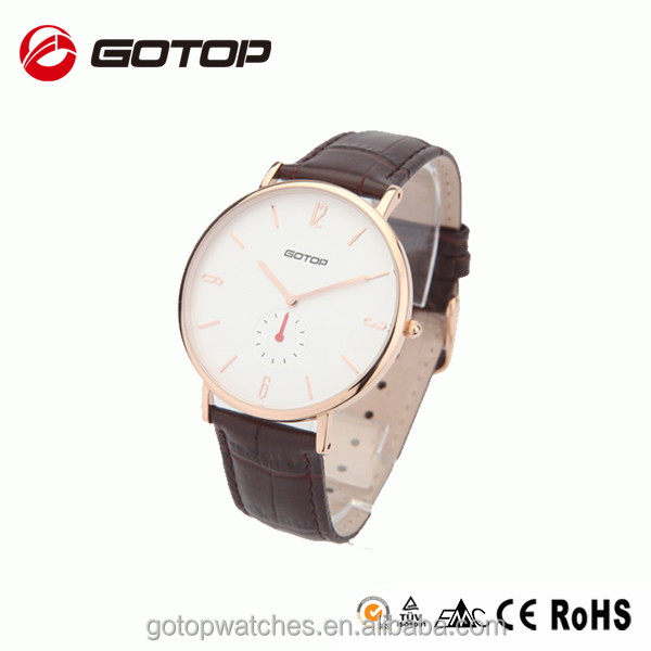 Black Leather Strap Omax Quartz Watch Stainless Steel Classic ...