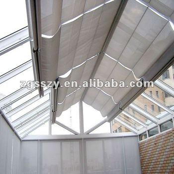 Window shade roof skylight outdoor roller blinds electric for Electric skylight shades motorized blinds