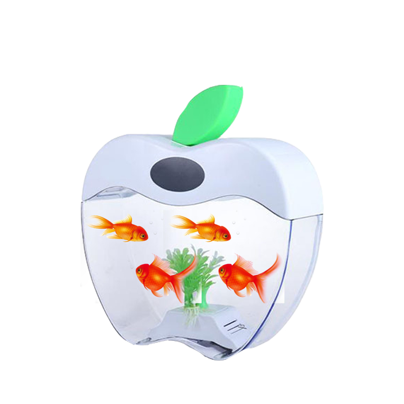 Mini usb aquarium aquarium, h0t8k mini glas vis kom