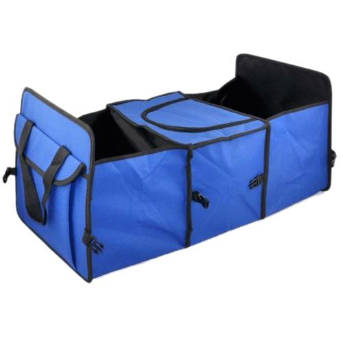 Большой продвижение синий 2 in1 багажнике торговый аккуратный тяжелых складной хранения