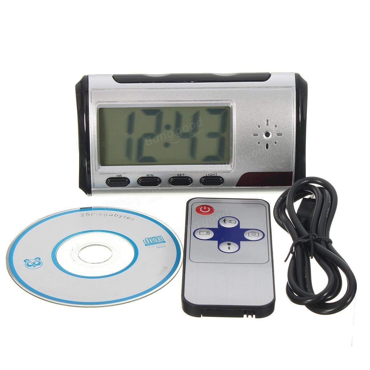 Alarm Clock Hidden Camera - Hidden Camera Alarm Clock - Hidden Camera Alarm Clock Nanny Cam Motion Detection Mini DV DVR Video (Alarm Clock With Hidden Camera)