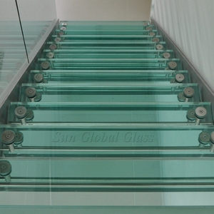 Top Quality Clear Laminated Glass Stair Treads 6+6mm 8+8mm 10+10mm