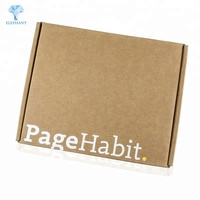 Custom logo printed flat pack folding corrugated die cut mailing box