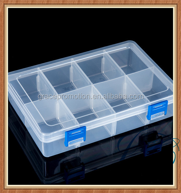 Promotional 8 day pill box, rectangular weekly pill case with lock