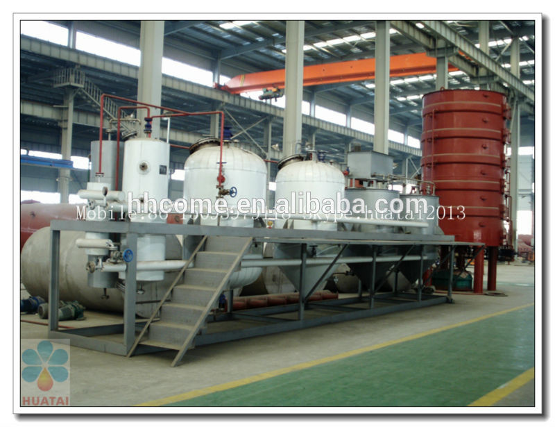 2016 hot selling automatic crude vegetable oil refining equipment with ISO9001,BV,CE
