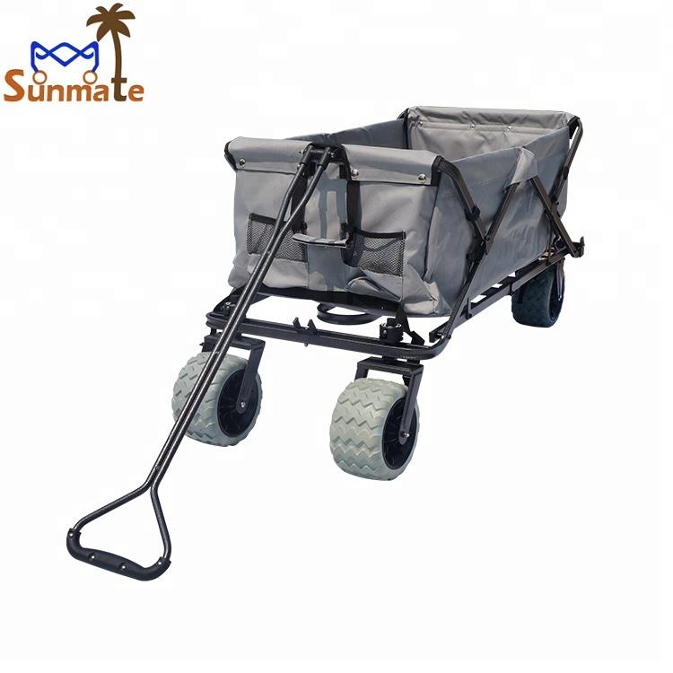 512c56c4a47b Utility Outdoor Collapsible Wagon Folding Collapsible Garden Beach Cart  Trolley wheel barrow hand truck