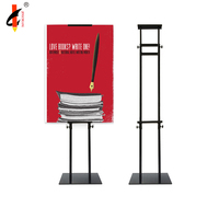 metal Iron poster board stands display stand