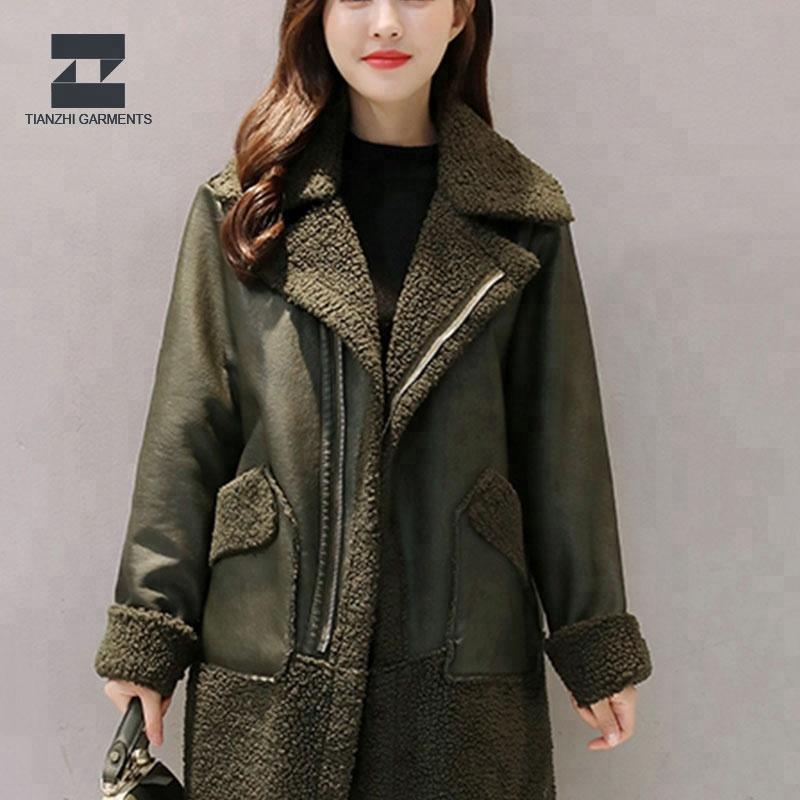 Custom lady high quality leather jacket