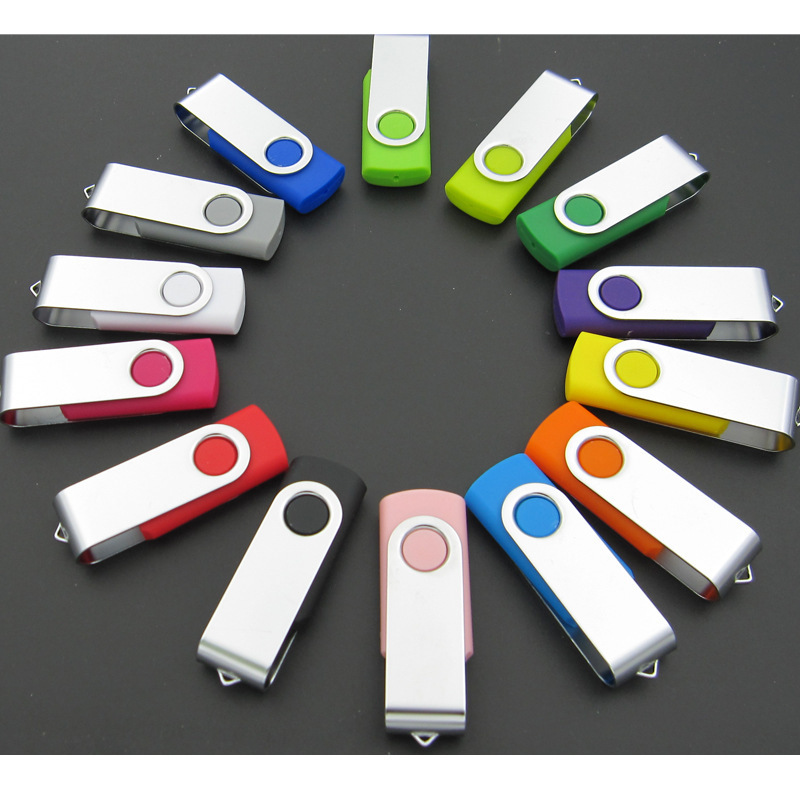 Customized logo printed promotion portable OTG 2.0 mini USB flash drives for PC