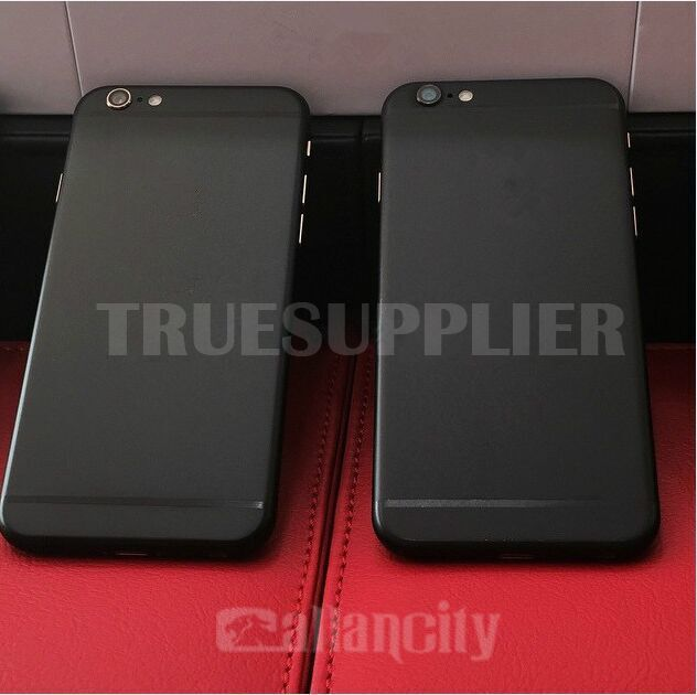 iphone 6 matte black. matte black for iphone 6 housing with gold logo o