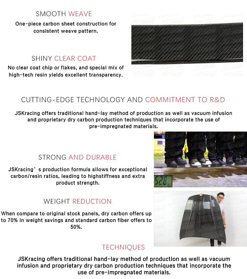 2014-2017 JSK-2 estilo fibra de carbono del capó BONNET para CHEVROLET CORVETTE C7