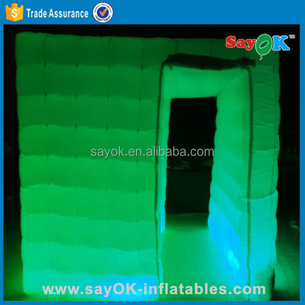 wholesale portable inflatable led photo booth for party outdoor event