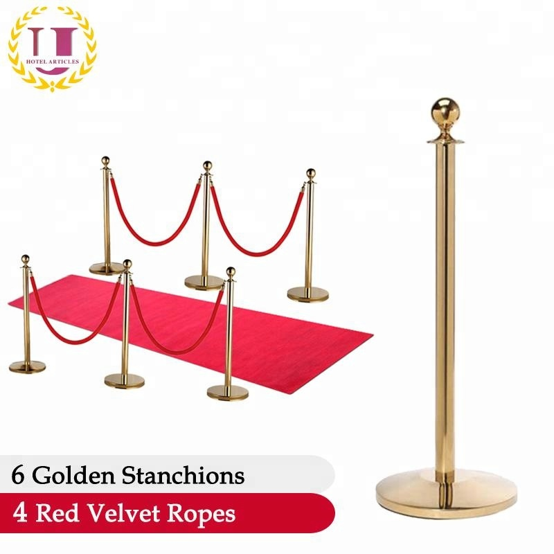 Red Carpet Rope Pole Barrier for Event
