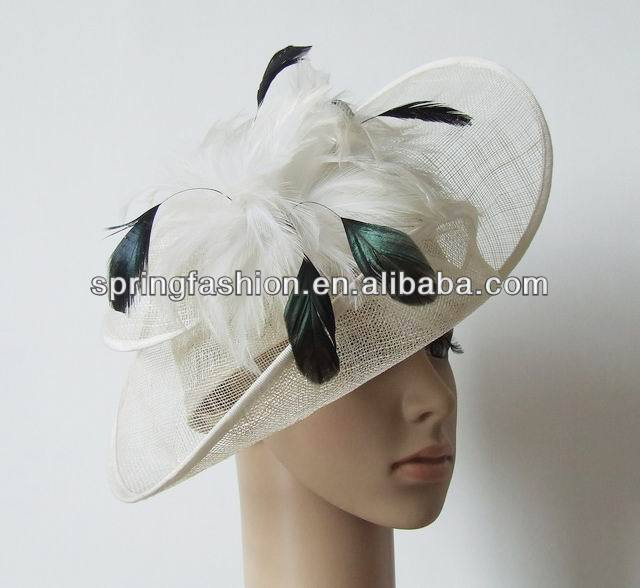 Vintage sinamay fascinator hat wholesale for Kentucky Derby Races Church