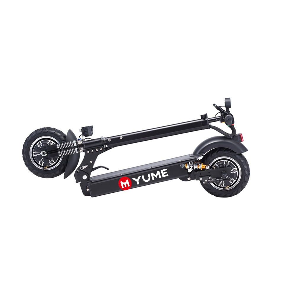52v 2000W 10inch Dual Motor Big Powerful folding electric scooter with display, Black for mi electric scooter