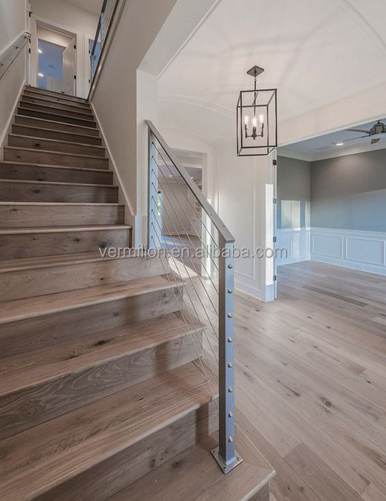 Wide Plank Grey Oak UV Oiled Engineered Interlocking Wood Flooring