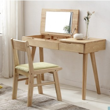 Hidden Mirror With Jewelry Storage Drawer Design Japanese Style Brief Wooden Dressing Table Buy Dressing Table Wood Dressing Table Mirror With