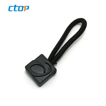 China OEM zipper manufacturer wholesale customized logo PVC zipper puller