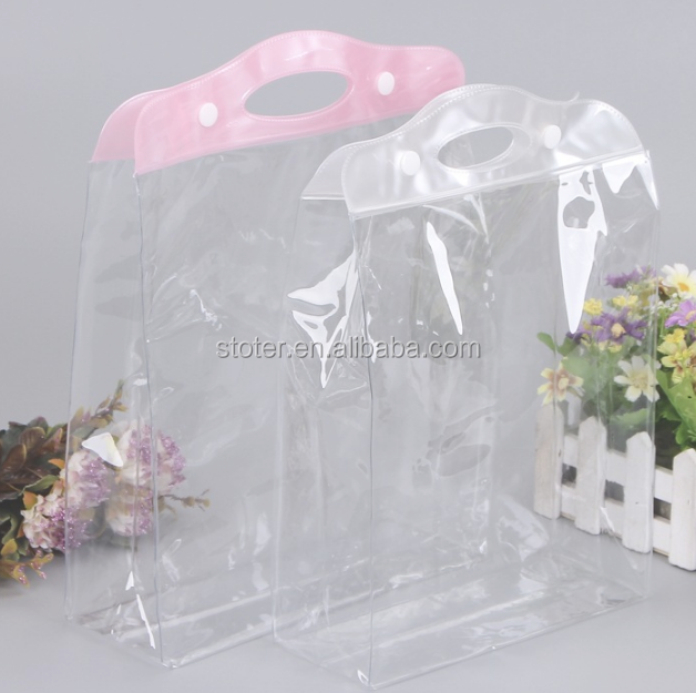 Cheap price pvc clear drawstring bag pvc poly bag