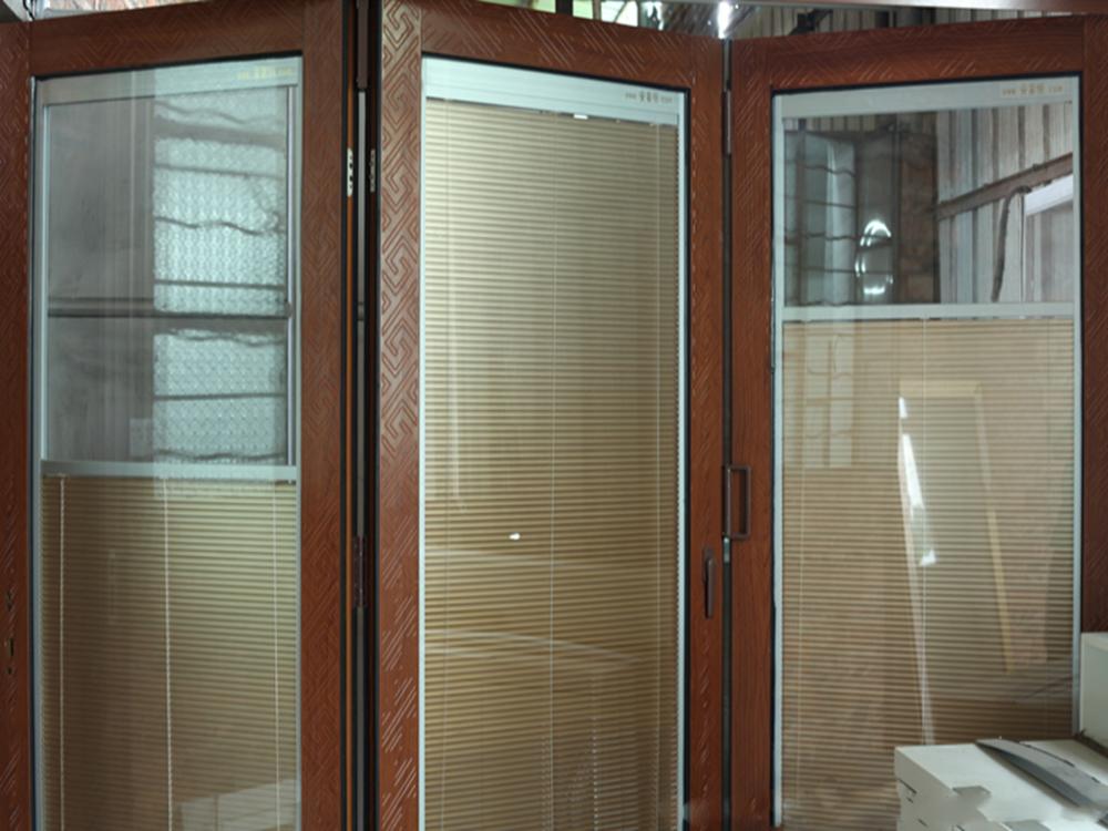 Interior de aluminio bi puerta plegable con lowes puertas for Puerta plegable aluminio