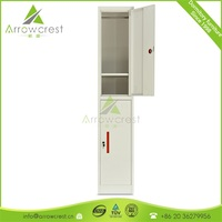 Worker staff dormitory 2 door clothes locker cabinet metal locker storage with coat hanger
