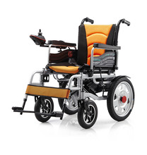 Competitive Price Lightweight Portable Folding Handicapped Electric Wheelchair For Disabled Person