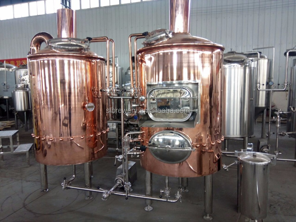 Hotel restaurant pub application copper 500l craft beer equipment