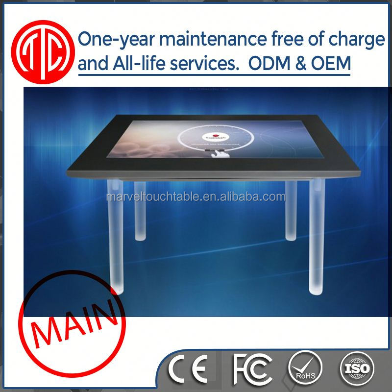 water-proofed HD floor stand Pure Flat Capacitive 7inch touch table pc