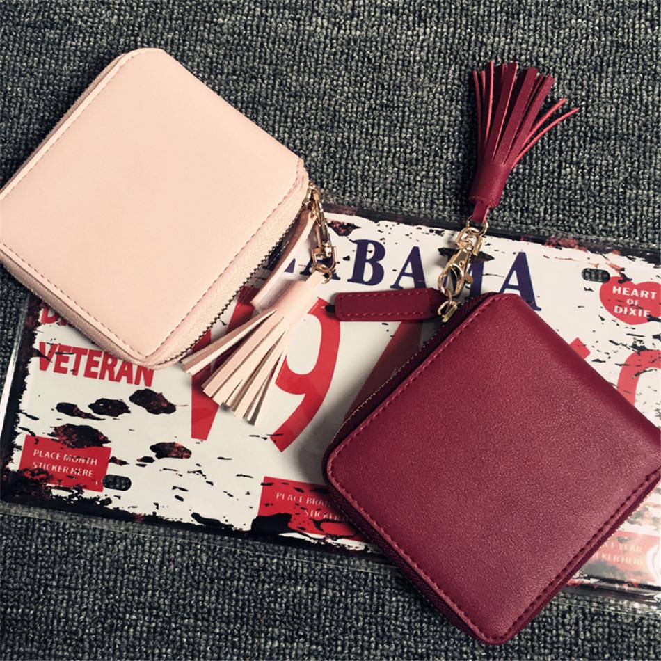 2803d33b0b6b Women Coin Purses Tassel Coin Bag Female Small Purse Leather Clutch Wallet  Ladies Mini Purse Card Holders Monederos Para Monedas. coin purse (1) ...