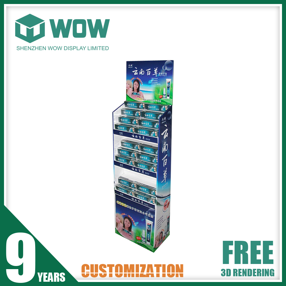 Made in China XLV Cardboard Point of Sale Display Stands for Toothpaste