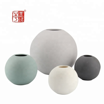 Tableau Modern Abstract Round Ball Vase Ceramic Matte Vases Buy