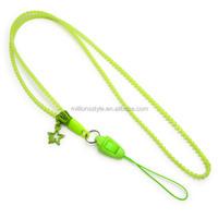 business for wholesale bright color zipper lanyard plastic neck strap