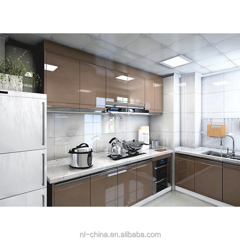 Display Ready To Assemble Movable High Gloss Plywood L Shape Waterproof  Kitchen Cabinets Sets For Sale - Buy Fiber Kitchen Cabinet,Kitchen Cabinet  ...