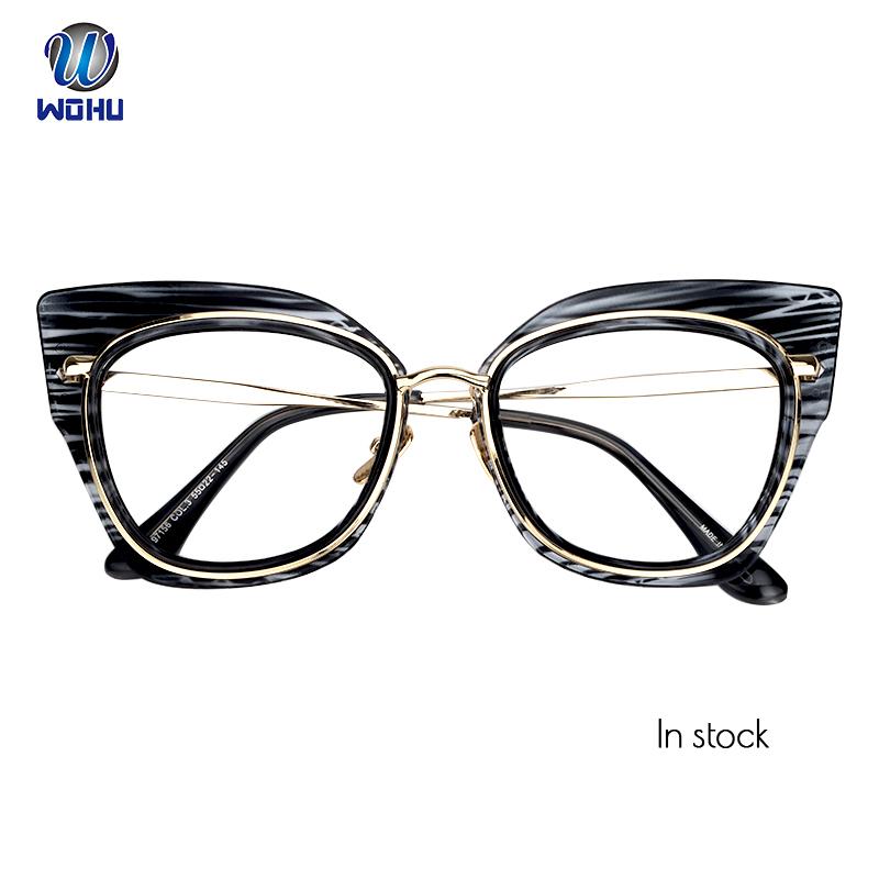 ad9de6346 القط العين شكل معدن نظارات إطار العصرية نظارات النظارات إطار النظارات  الطبية ل دروبشيبينغ
