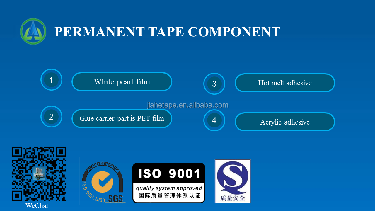 Double Sided Adhesive Permanent Sealing Tape