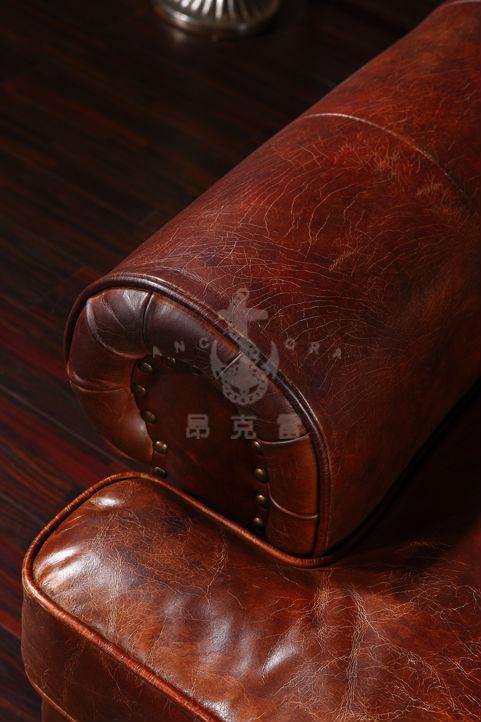 american antike vintage stil zwei sitze braun leder sofa. Black Bedroom Furniture Sets. Home Design Ideas