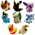 Pokemon Go Plush Toy Eevee Stuffed Doll Japanese Cartoon Animals Cute Soft Doll 12CM Kawaii Toys