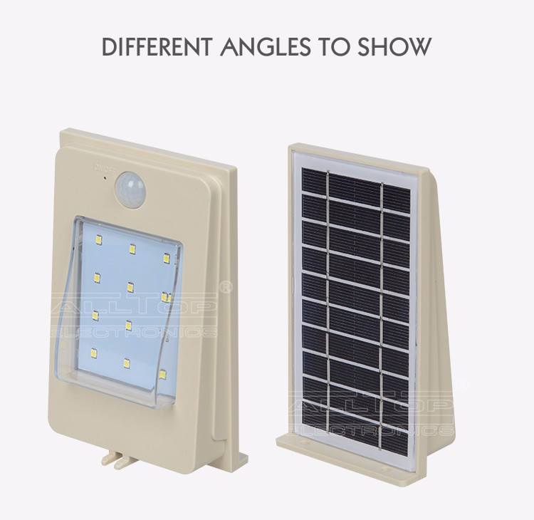 2W waterproof solar sensor unbreakable outdoor led stair wall fancy light