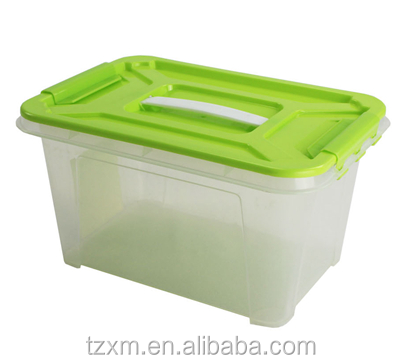plastic transparent household sundries tote chest box