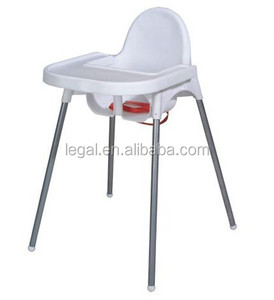 baby high leg feeding chair, adjusted legs feeding chair, plastic baby furniture