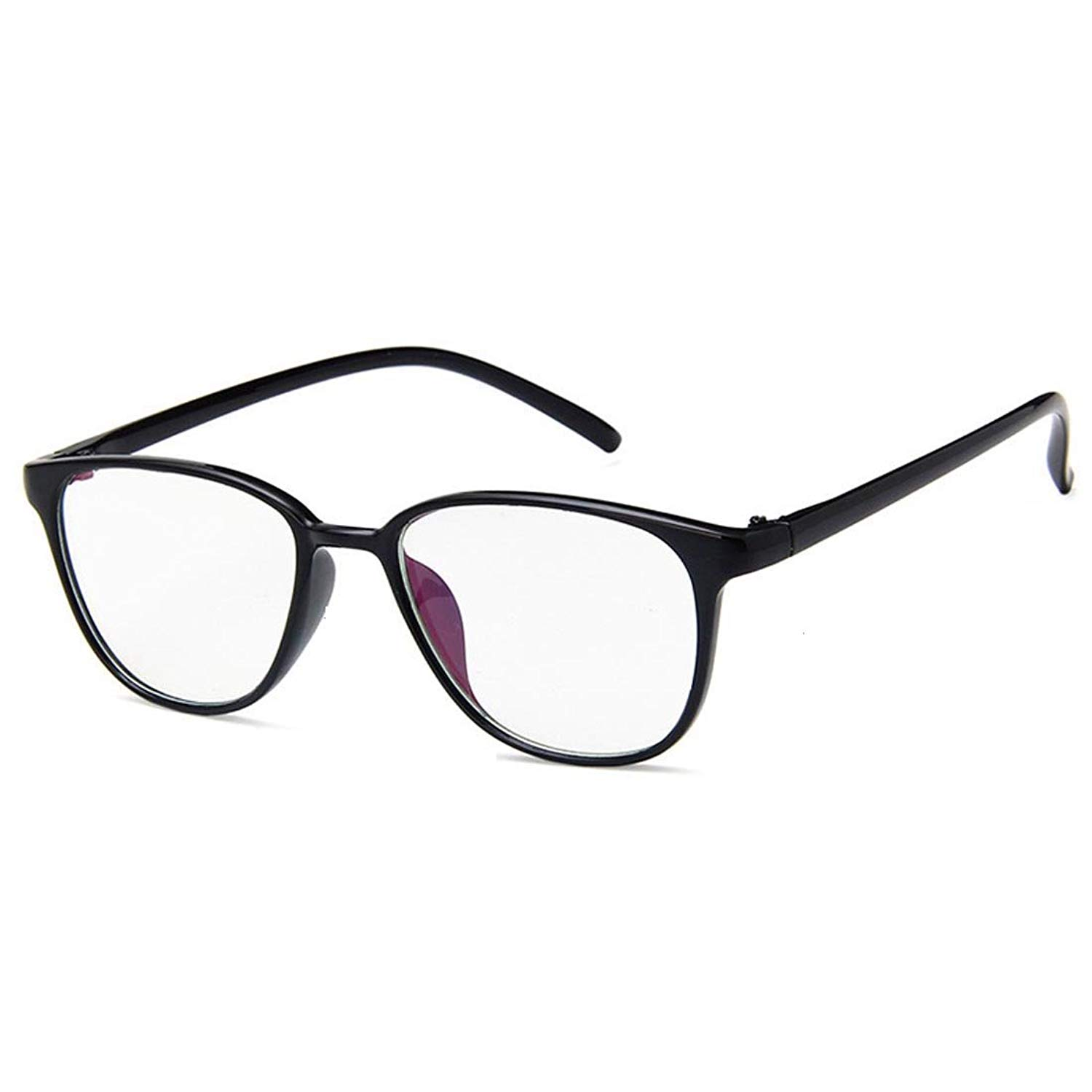 de2671450ef Get Quotations · D.king Vintage Retro Plastic Frame Women Men Eyeglass Frame  Clear Lens Glasses