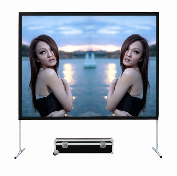 Shenzhen 2018 new screen 150 inch portable fast folding projector screen