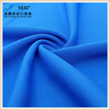 hot sale 100% Polyester Big Bird Eye Textured Pique Knitted Fabric for polo shirt