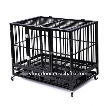 heavy duty dog cratelarge metal strong dog kennel cage with tray and wheels