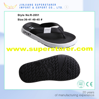 d5752ba2299dd Vogue Male Beach Sandals Eva Men Black Flip Flop - Buy Eva ...