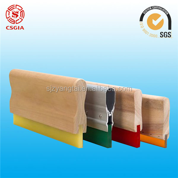 Aluminum screen printing handle with squeegee /screen printing squeegee with wooden hand