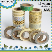 SOMITAPE NIEUWE KOMENDE Golden Folie Washi Afplakband/Laser <span class=keywords><strong>Tape</strong></span> voor Party Decoratie