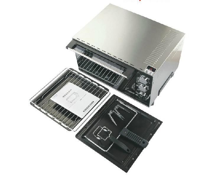 23L Home Baking Oven Stainless Steel Household Senior Oil Double Layer Door